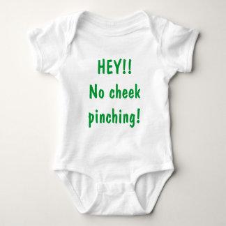 HEY!!No cheek pinching! Baby Bodysuit