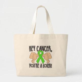 Hey Non-Hodgkin's Lymphoma Cancer You're a Loser Canvas Bag
