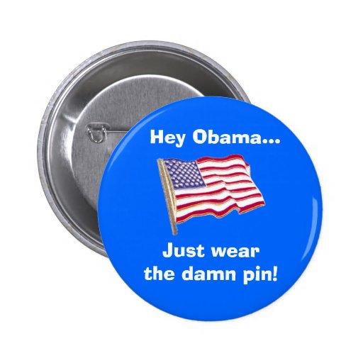 Hey Obama...Just wear the damn pin!