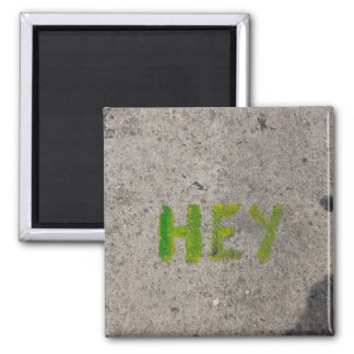 hey on the sidewalk 2 inch square magnet