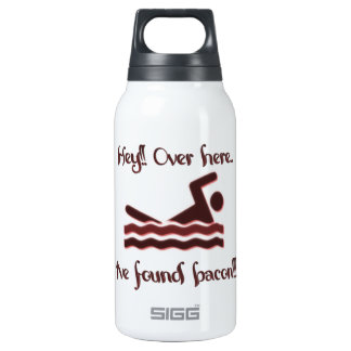 Hey over here ive found bacon 10 oz insulated SIGG thermos water bottle