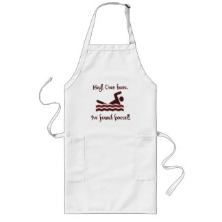 Hey over here ive found bacon long apron