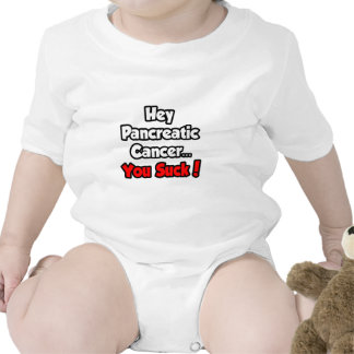 Hey Pancreatic Cancer...You Suck! Baby Bodysuits