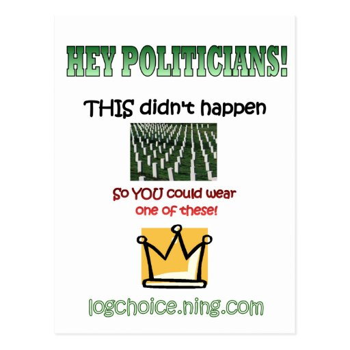 Hey Politicians! Postcards