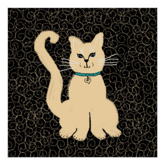 Hey Pretty Kitty Poster by Julie Everhart