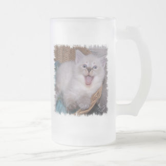 Hey, Put Your Own Text HERE Meowing Kitten Mug