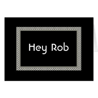 HEY ROB - Be My Groomsman Invite - Checkerboard Greeting Cards
