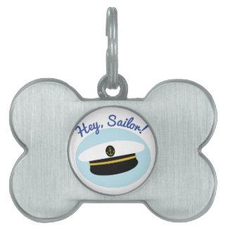 Hey Sailor Pet Name Tag