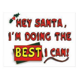 Hey Santa! Postcard