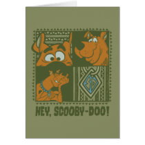 Hey Scooby-Doo Tribal Square Graphic