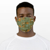 Hey Scooby-Doo Tribal Square Graphic Adult Cloth Face Mask