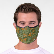 Hey Scooby-Doo Tribal Square Graphic Premium Face Mask