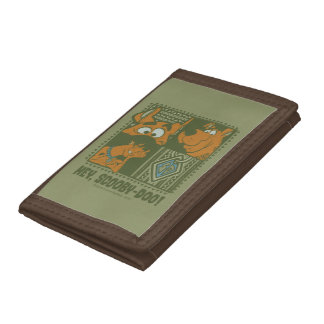 Hey Scooby-Doo Tribal Square Graphic Trifold Wallet