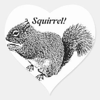 Hey Squirrel Heart Sticker