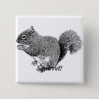 Hey Squirrel Pinback Button