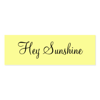 Hey Sunshine Double-Sided Mini Business Cards (Pack Of 20)