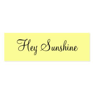 Hey Sunshine Business Cards