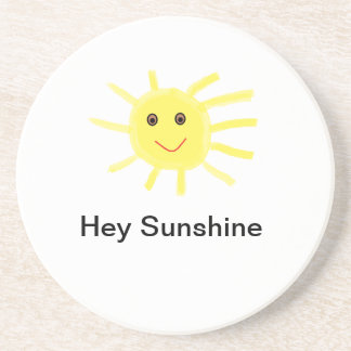 Hey Sunshine Drink Coaster