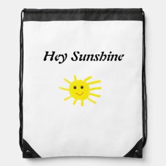 Hey Sunshine Drawstring Bags