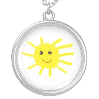 Hey Sunshine Round Pendant Necklace