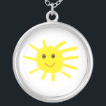 "Hey Sunshine Silver Plated Necklace<br><div class=""desc"">Hey Sunshine</div>"