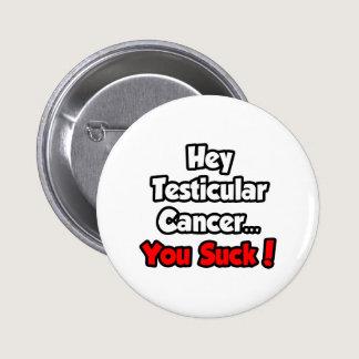 Hey Testicular Cancer...You Suck! Pinback Button