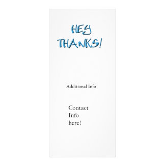 Hey, Thanks! Thank you gifts Rack Card Design