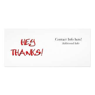 Hey, Thanks! Thank you gifts Full Color Rack Card