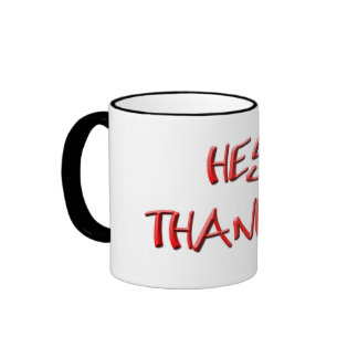 Hey, Thanks! Thank you gifts Ringer Mug