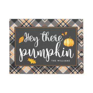 Hey There Pumpkin | Personalized Fall Doormat