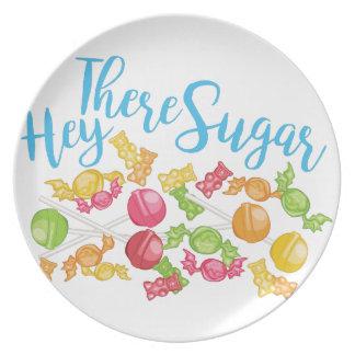 Hey There Sugar Melamine Plate