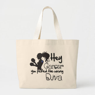 Hey Thyroid Cancer You Picked The Wrong Diva png Bag