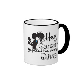 Hey Thyroid Cancer You Picked The Wrong Diva.png Ringer Mug