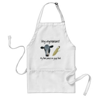 Hey Vegetarians! Adult Apron