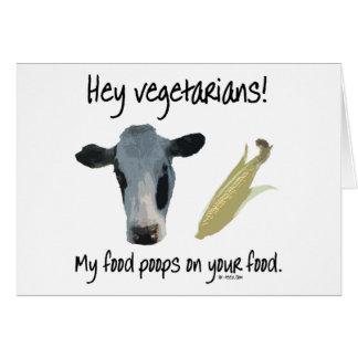 Hey Vegetarians! Card