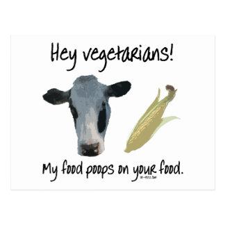 Hey Vegetarians! Postcard