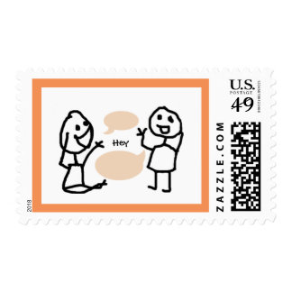 Hey Wanna Postage Stamp by RoseWrites