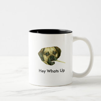 Hey Whats Up Two-Tone Coffee Mug