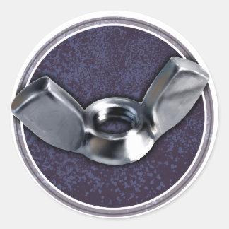 Hey Wingnuts! Classic Round Sticker