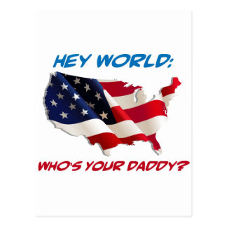 Hey World: Who's Your Daddy? Gear Postcard