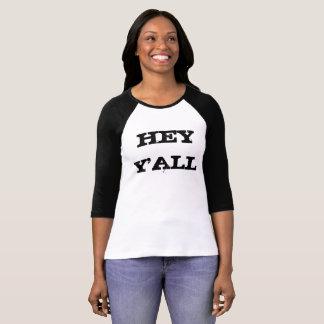 HEY Y'ALL Raglan T-Shirt