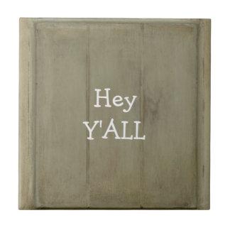 Hey YALL Rustic Wood Tile