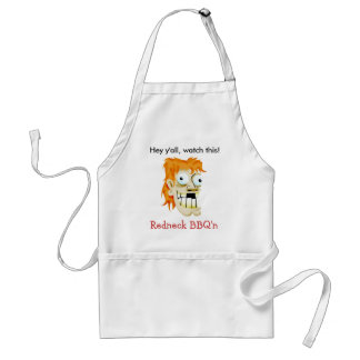 Hey y'all, watch this! adult apron