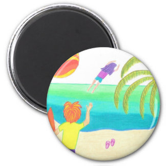 Hey! You Forgot Your Flip Flops! 2 Inch Round Magnet