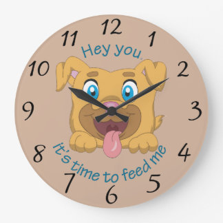 Hey You, It's Time to Feed Me Large Clock