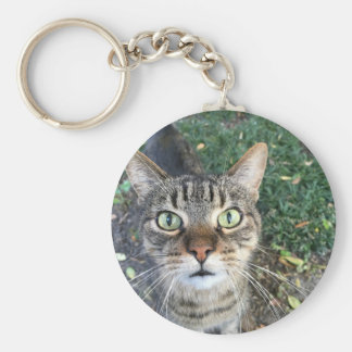 """""""Hey You"""" says this cat Keychain"""