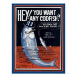 Hey, You Want Any Codfish? Songbook Cover Poster