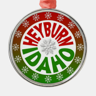 Heyburn Idaho red green ornament