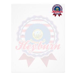 Heyburn, identificación membrete personalizado