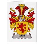 Heye Family Crest Greeting Card